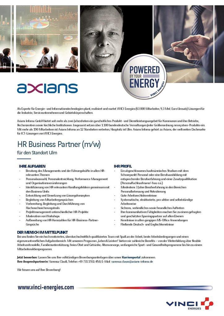 HR Business Partner - Axians Infoma