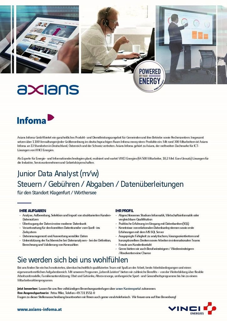 Junior Datenanalyst AT_2018 docx - Axians Infoma