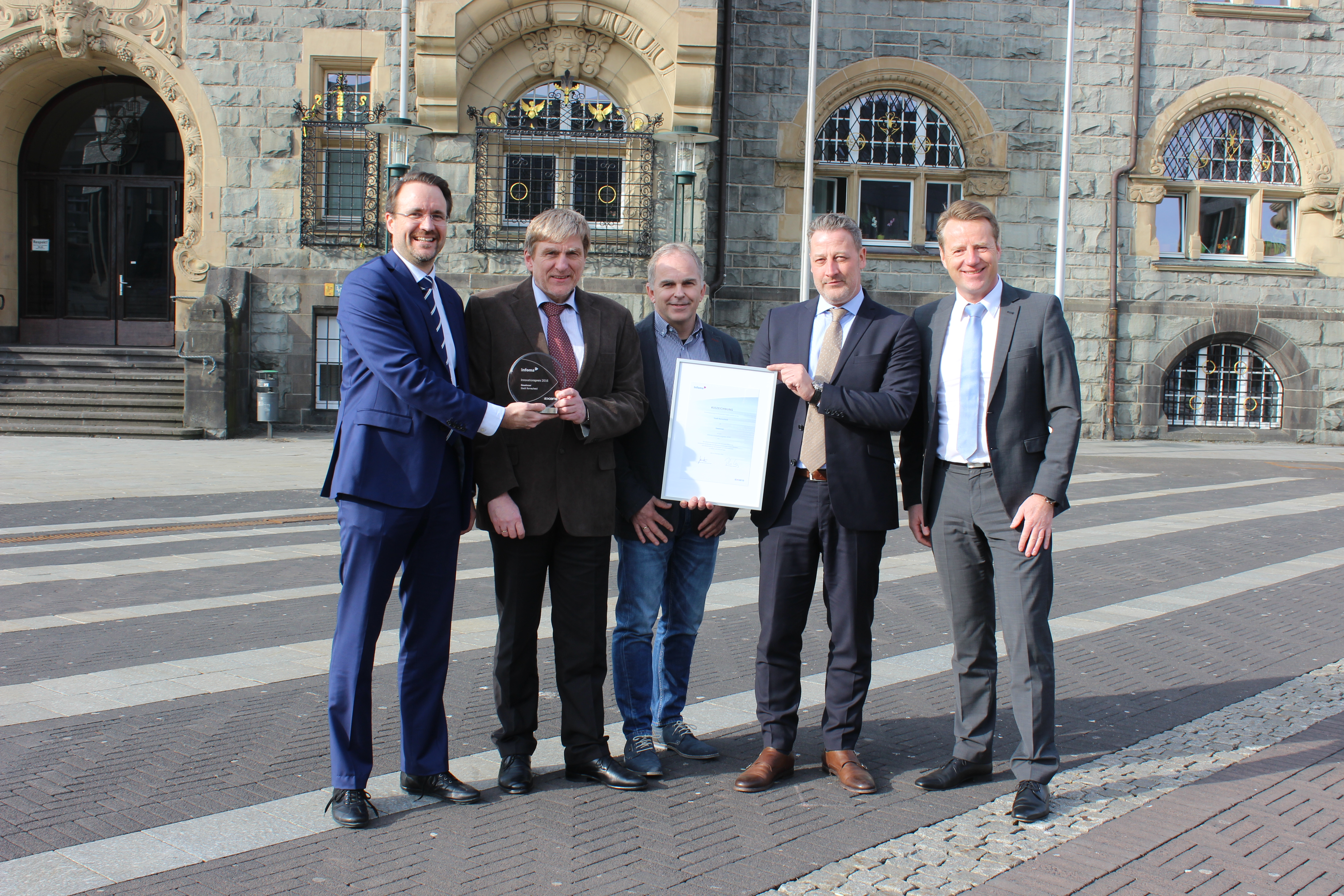 Axians Infoma 2016 Innovation Prize awarded to the city of Remscheid