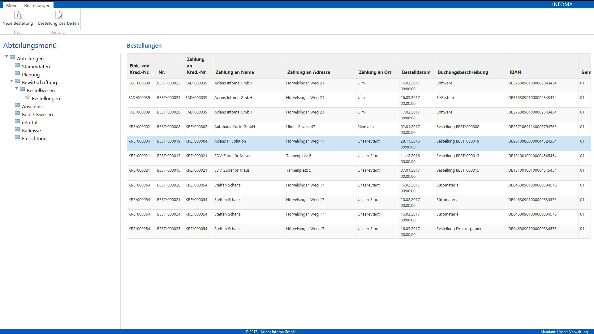 Screenshot Infoma