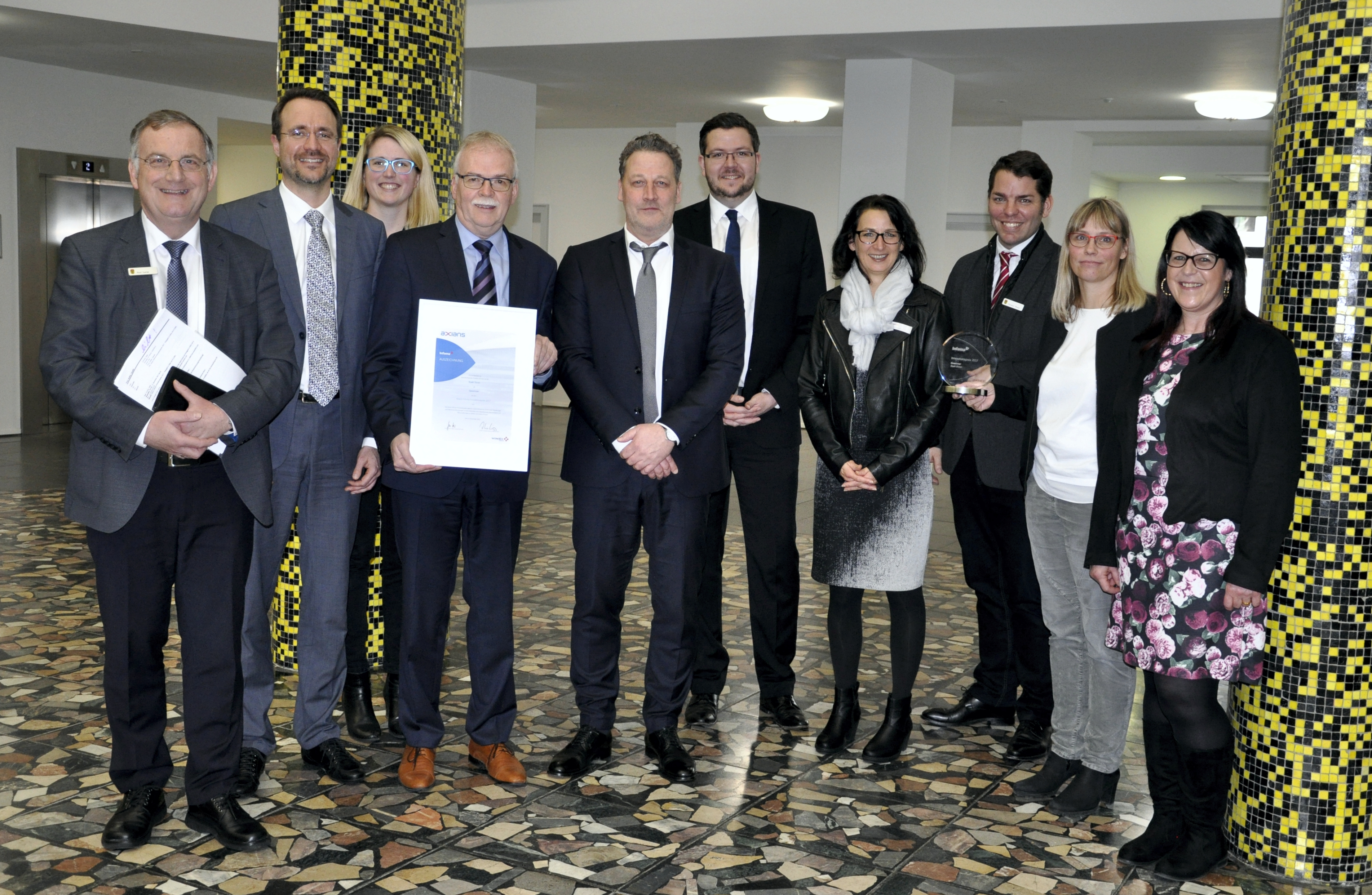 The City of Düren wins Innovation Prize from Axians Infoma for the Second Time